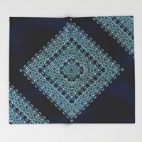 Deep Blue Diamonds Throw Blanket by Octavia Soldani | Society6