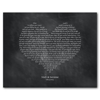 All of me loves all of you You're my end and my beginning - John Legend - Personalized Heart Typgoraphy Inspirational print anniversary gift