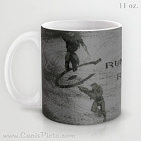 Halo Mug Spartan Master Chief Elite 11/15 oz Dishwasher Microwave Safe Cup Tea Coffee Drink For Him Silver Grey Video Game Dude Guy