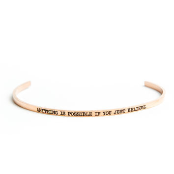 JAECI ANYTHING IS POSSIBLE IF YOU JUST BELIEVE BANGLE