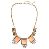 Sorbet Pyramids Necklace | Jeweliq Statement Necklaces