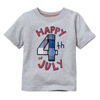 Jumping Beans Plaid ''Happy 4th of July'' Tee - Baby