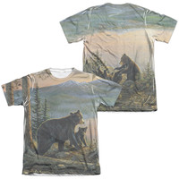 WILD WINGS/SERENITY AT TWILIGHT (FRONT/BACK PRINT)-ADULT POLY/COTTON S/S TEE-SUBLIMATE WHITE