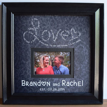 Personalized Wedding Frame, Bridal Gift, Mother of the Bride gift, Mother In-Law gift, Grandparent Gift, Unique Wedding Gift, 15x15
