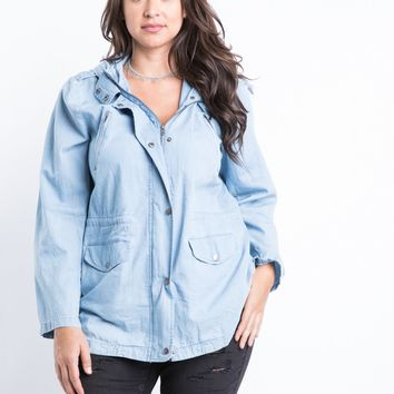 Plus Size Lazy Days Denim Jacket