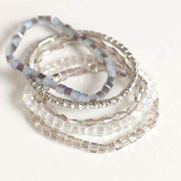 Crystal Waves Bracelet Set