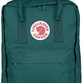 Fjallraven Kanken Durable Backpack Unisex Lovers' School Travel Bag( Ocean Green )