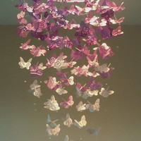Lovely in Lavender Monarch Butterfly Chandelier Mobile