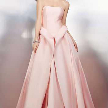 Blush Strapless Ballgown 24575