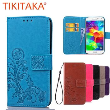 Luxury Leather Wallet Flip Case For Samsung Galaxy S5 i9600 Cover Multifunction Silicone Cell Phone Protective Shell Capa Fundas