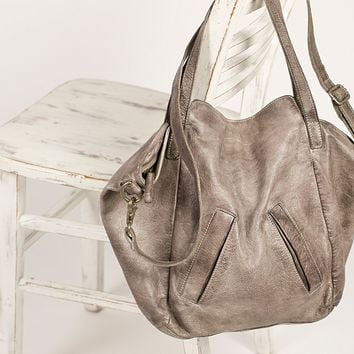 Free People Lucca Washed Leather Tote