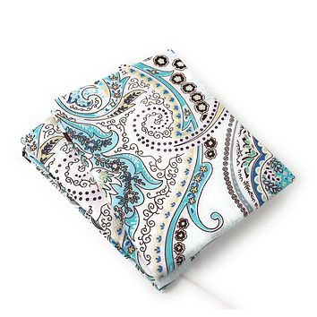 Tache 2 Piece Cotton Frozen Forest Blue Paisley Pillowcase (TA2172-PC)