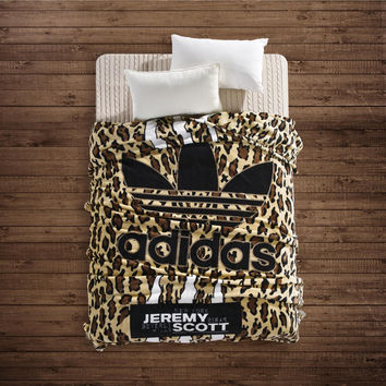ADIDAS Leopard Winter Warm Blanket