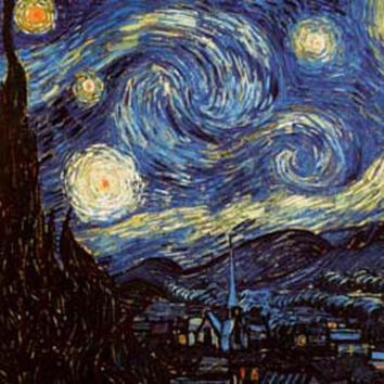 Vincent Van Gogh Starry Night Art Poster 24x36