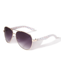 Anchor Print Aviator Sunglasses