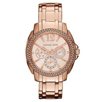 Michael Kors MK5692 Women's 'Cameron' Round Rose Gold Bracelet Watch