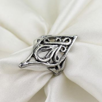 2017 Selling Sale Sterling Jewelry Vintage Lord Rings Authentic Elf King Elrond Movie Flowers Ring Holder For Fans Priedai