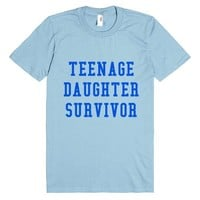TEENAGE DAUGHTER SURVIVOR BLUE T-SHIRT TDS261708 | T-shirt | SKREENED