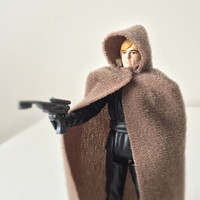 Vintage Star Wars Figure - Luke Skywalker Jedi Knight, with Original Cape and Blaster - 1980s Kenner