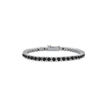 DCCKU7Q Black Diamond Tennis Bracelet : 925 Sterling Silver - 3.00 CT Diamonds