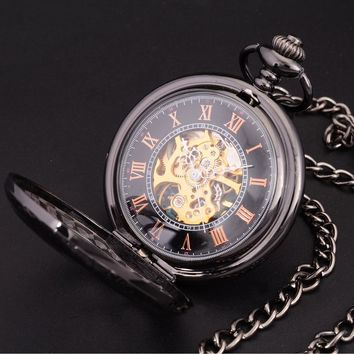 Sweet Classic Pocket Watch - Steampunk Skeleton Dial
