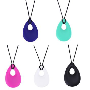 Silicone Baby Teether Toddler Kids Drop Ring Teething Necklace Pendants Newborn Molars Tooth Chew able Teething Toy