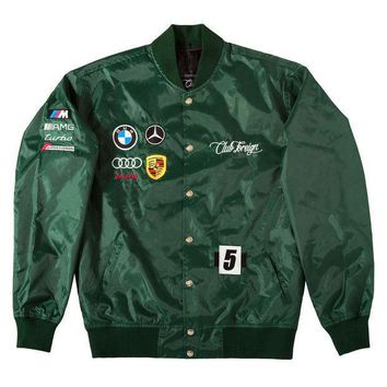 Club Foreign German Race Jacket In Green - Beauty Ticks