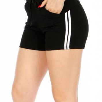 Stripe Accent Fleece Workout Shorts in sizes S-XL in 6 Colors