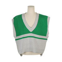 Color-Blocked V-Neck Vest