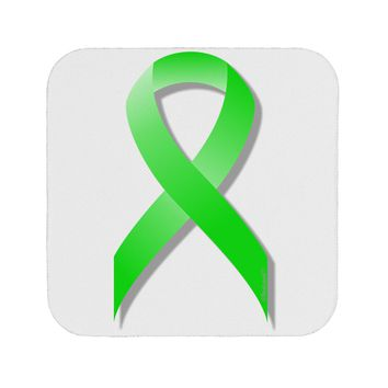 Lyme Disease Awareness Ribbon - Lime Green Coaster