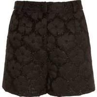 Black Fluffy Flower Shorts - New In This Week  - New In