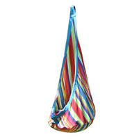 Rainbow Red Stripe Pod Swing / Hammock Chair with Pillow and Cushion Pad