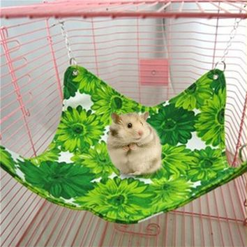 Canvas  Small Pet Sleeping Hanging Bed Hamster Chinchilla Hammock Guinea Pig Rabbit Cage Accessories Mat Color Randomly