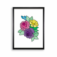 Printable Poster Wall Hanging - Flowers - 18x24 / 11x17 / 8.4x11 / 8x10 / 5x7 / 4x6