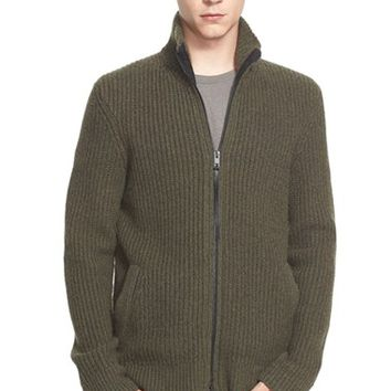 Men's rag & bone 'Rhys' Full Zip Merino Wool Blend Sweater,
