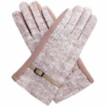 Marbled Knit Texting Gloves