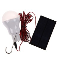Portable 0.8W/5V 150 lumens Solar Power LED Bulb Lamp Outdoor Camping Tent Fishing Lamp Lighting   MTY3