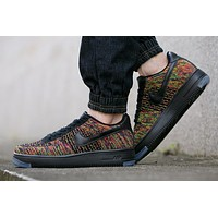 Originals Nike Air Force One 1 Flyknit Low Orange / Black Running Sport Casual Shoes '