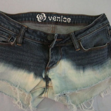 Low Rise Distressed Jean Shorts