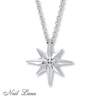Neil Lane Designs Diamond Accents Sterling Silver Necklace