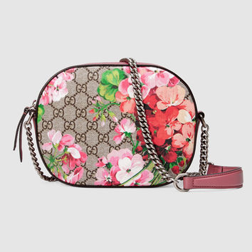 Gucci Blooms GG Supreme mini chain bag