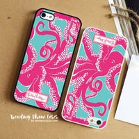 Octopus Sea World-Lilly Pulitzer iPhone Case Cover for iPhone 6 6 Plus 5s 5 5c 4s 4 Case
