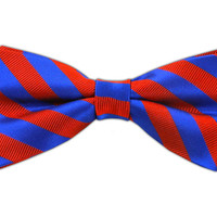 Twill Stripe - Royal Blue/Red (Bow Ties) from TheTieBar.com - Wear Your Good Tie Everyday