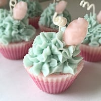 Cupcake Candles in Cotton Candy Banana-Berry Bubblegum