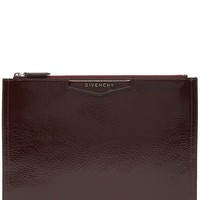 Antigona Patent Creased Leather Pouch
