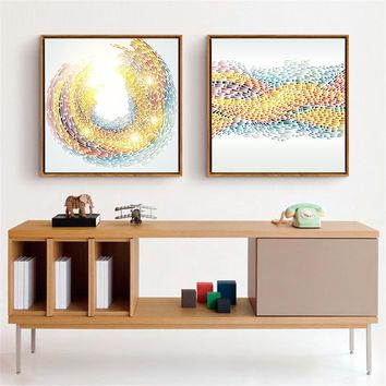 Printing Pictures Abstract Rainbow Lines Paintings Nordic Style Fashion Poster Decoration Living Room Or Bedroom Canvas Wall Art