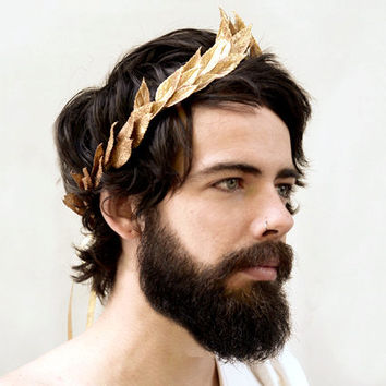 New Years' Gold Leaf Headband. Greek God, NYE, Gold Leaf Crown, Caesar, Grecian Headpiece, Greek, Unisex, Crown, Gold Leaf, Roman Headpiece