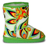 Girls' Loudmouth Boots - Shagadelic White
