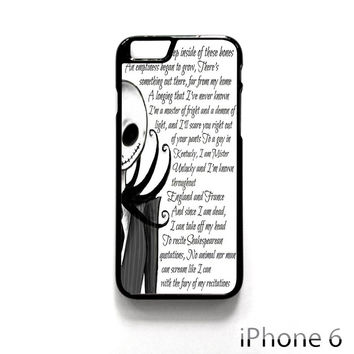 Jack And Sally Nightmare Before Christmas Couple B for Iphone 4/4S Iphone 5/5S/5C Iphone 6/6S/6S Plus/6 Plus Phone case