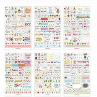 DCCKL72 1 Pack Kawaii Diary Decoration Scrapbooking Stickers Flakes Transparent PVC Stationery Planner Diary Stickers Pink Post It Decal